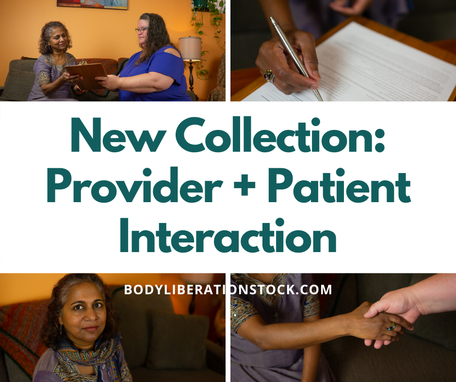 New Diverse Stock Image Collection: Patient + Provider Interaction