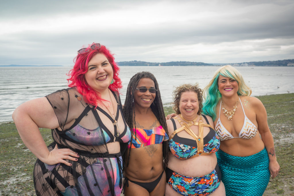 Mermaids and Beach Babes Stock Photos at Seattle's Alki Beach   Body-Positive Portrait Photography in the PNW